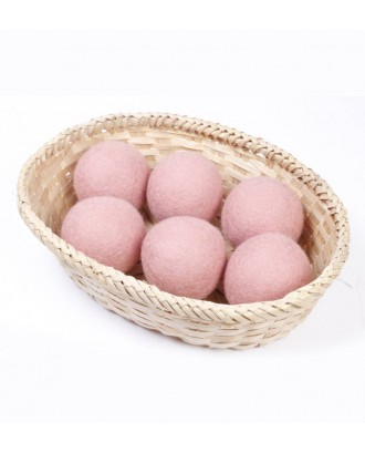 Pink Wool Dryer Balls