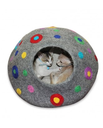 Handmade Felt Cat Cave