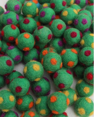 Handmade Felt 2 Cm Polka dot balls