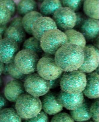 Handmade Felt Glitter balls