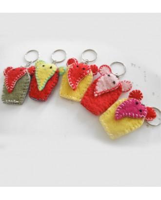 Handmade Felt Key Ring
