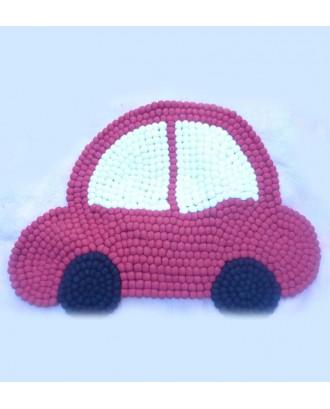 Handmade Car Felt Ball Rug